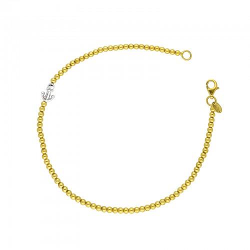 Bracciale in oro giallo e bianco 18k