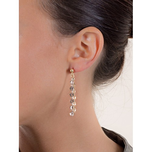 Earrings 18k White Gold, Gold, Rose Gold with Pendant