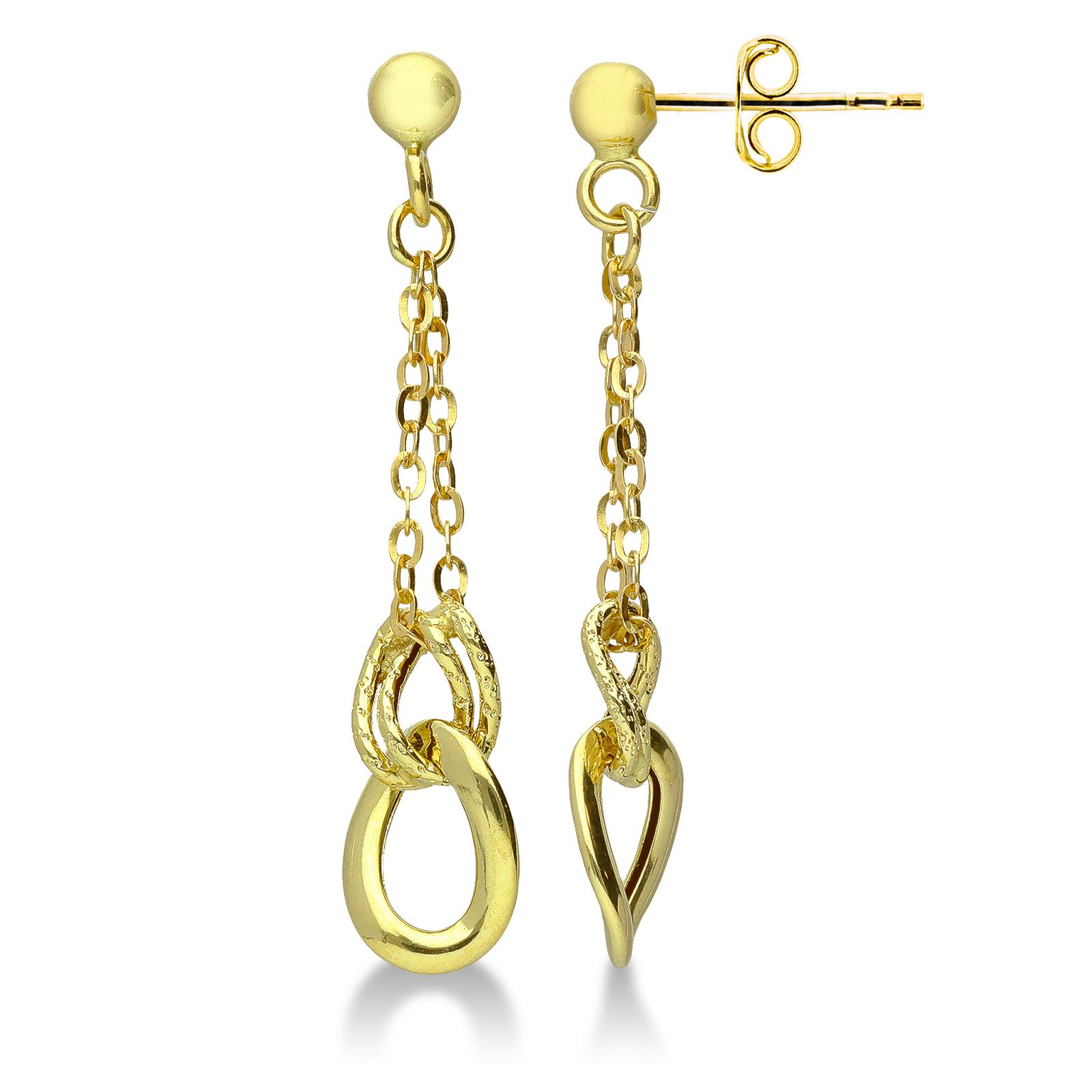 Earrings 18k Gold with Pendants