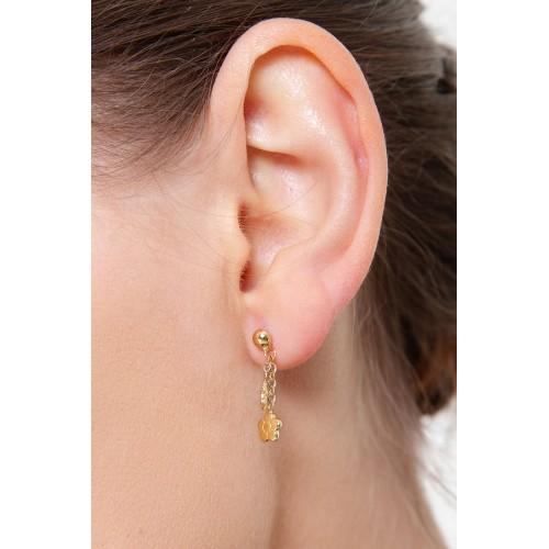 Earrings 18k Gold with ladybugs