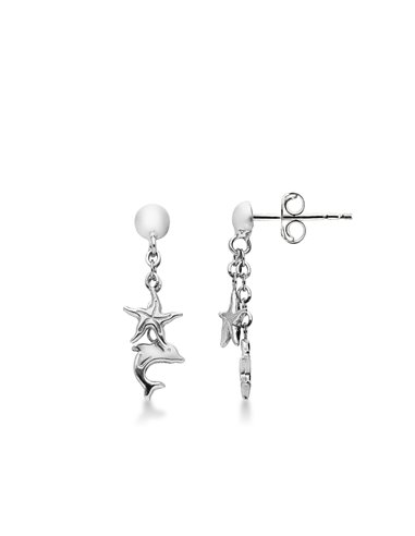 Earrings 18k White Gold with Animals