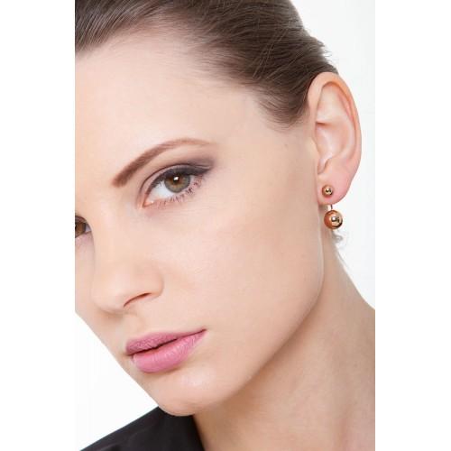 Earrings 18k Rose Gold with Spheres