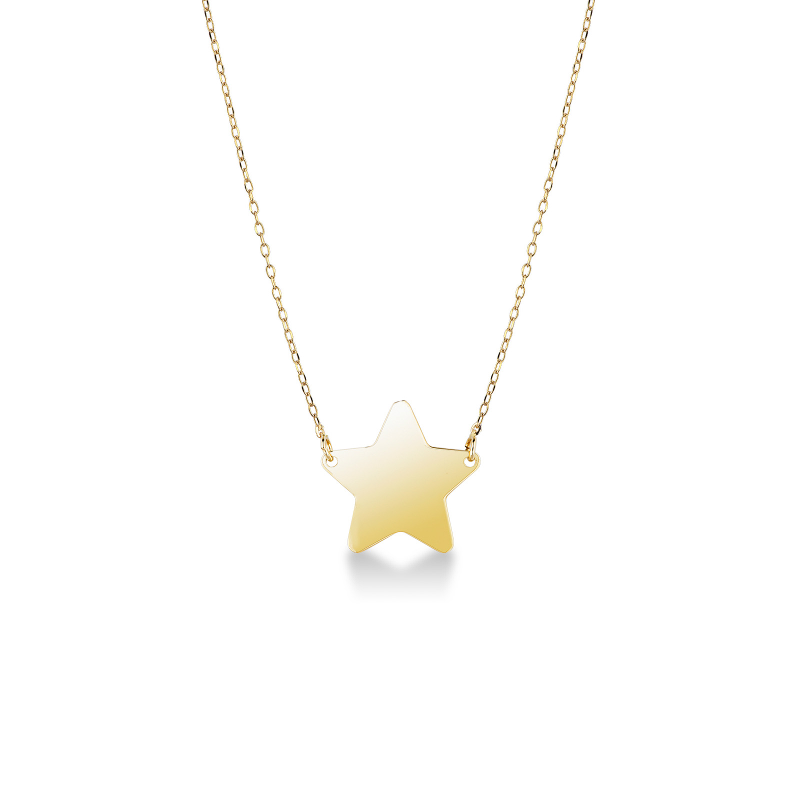 Collana con pendente Stella in oro giallo 18kt.