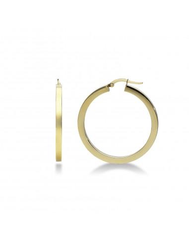 Orecchini a cerchio in oro giallo 18kt