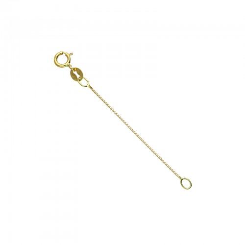 Estensione di 5 cm per collana in Oro Giallo 18k.