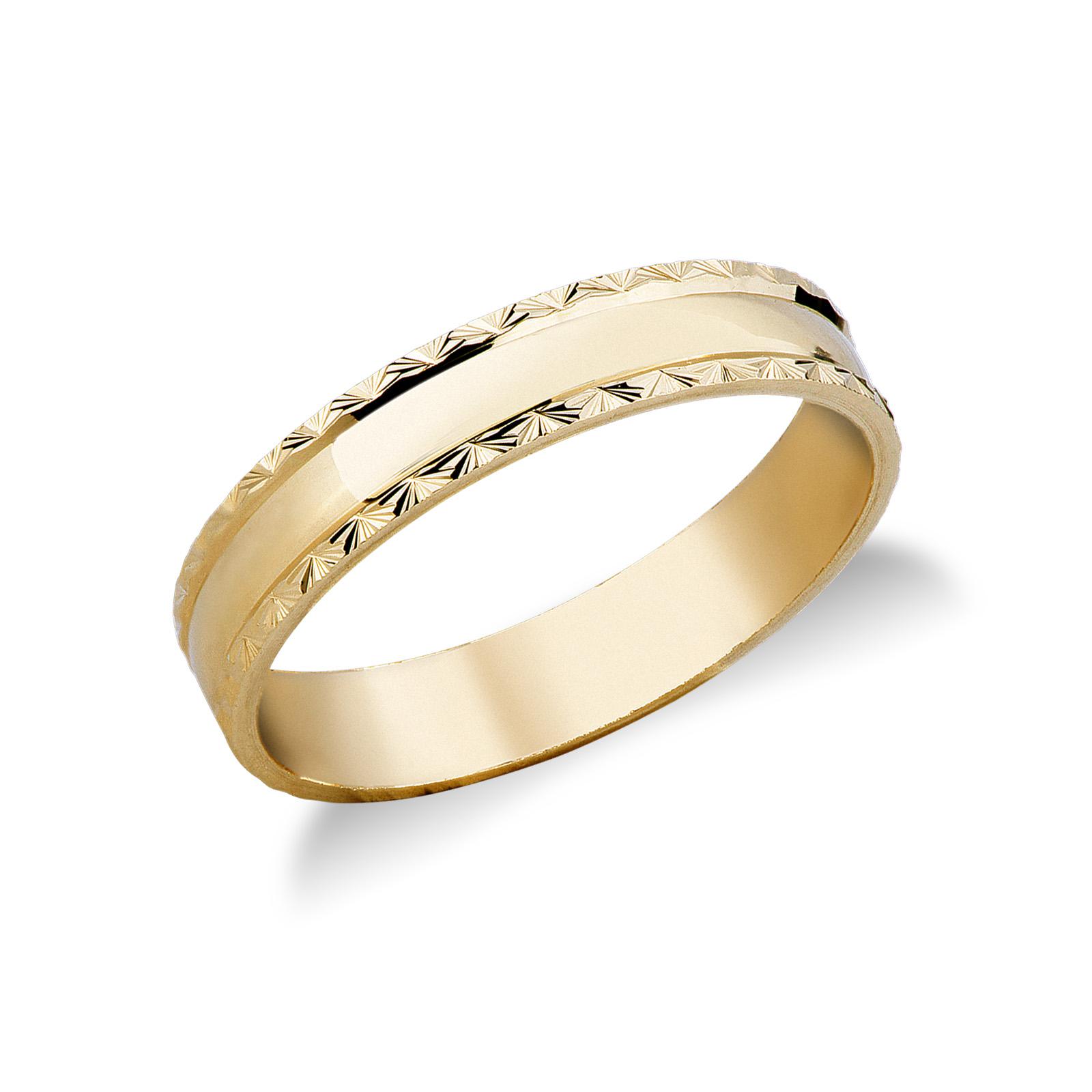 Fede modello Diamantata  in oro giallo 18k.