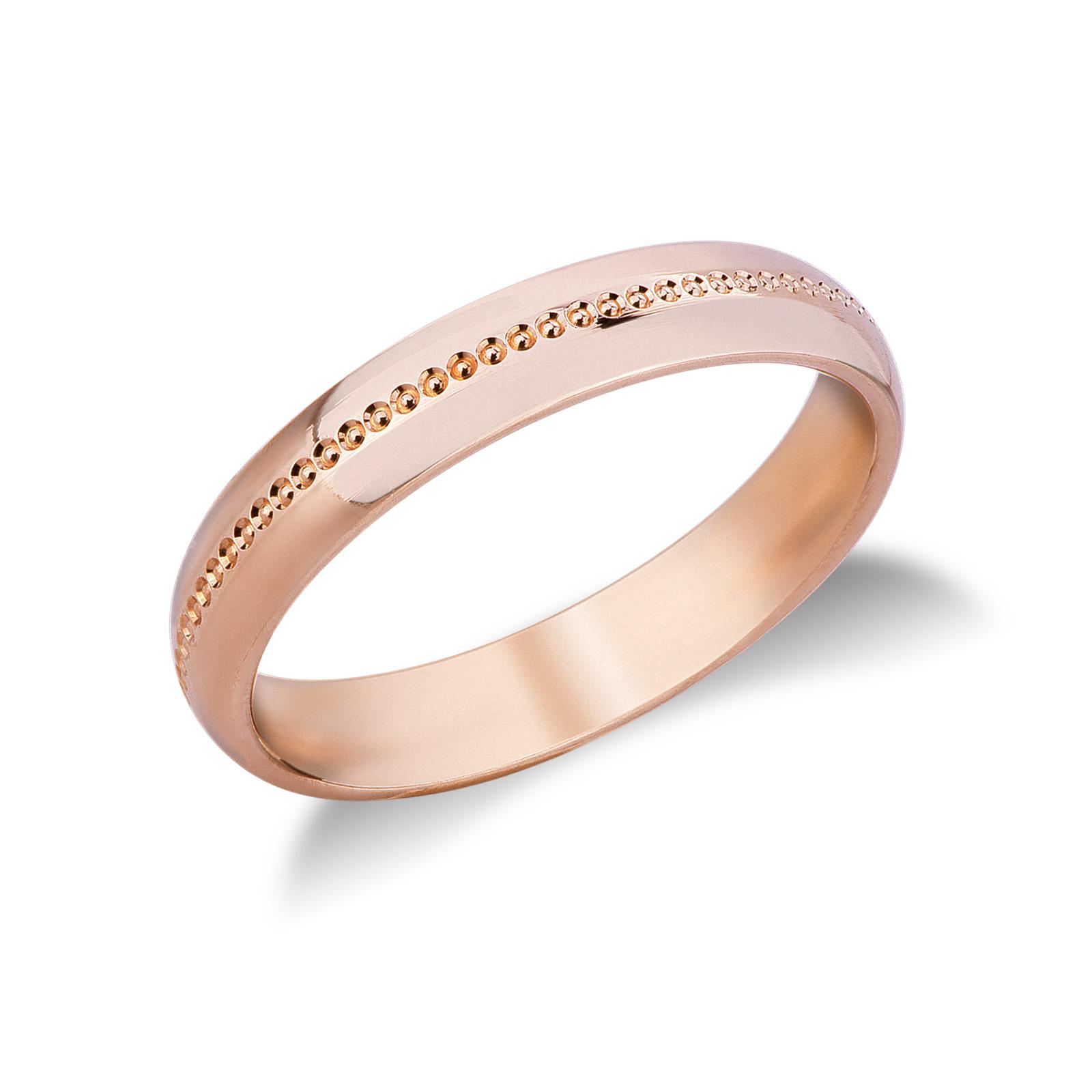 Fede Comoda in oro rosa 18k