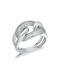 Ring 18k White Gold with Zircon