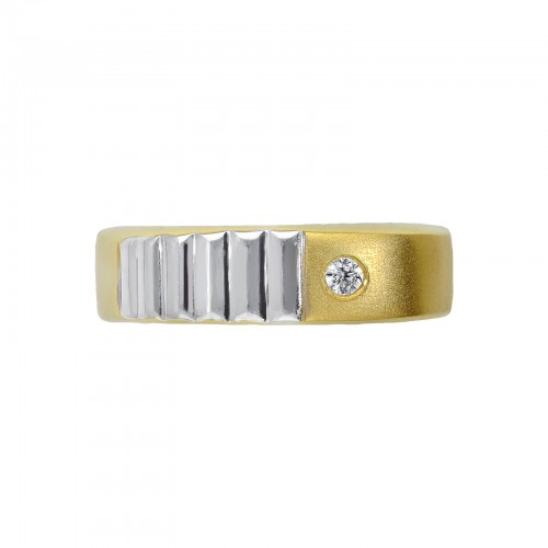 Ring 18k White Gold, Gold with Zircon