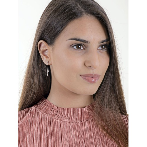 Earrings 18k White Gold with Pendants