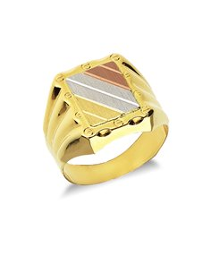 Chevalier Ring 18k White Gold, Gold, Rose Gold with shield