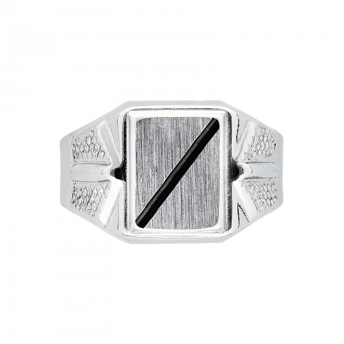 Chevalier Ring 18k White Gold with shield