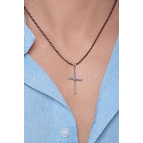 Pendant 18k White Gold, Gold with crucifix