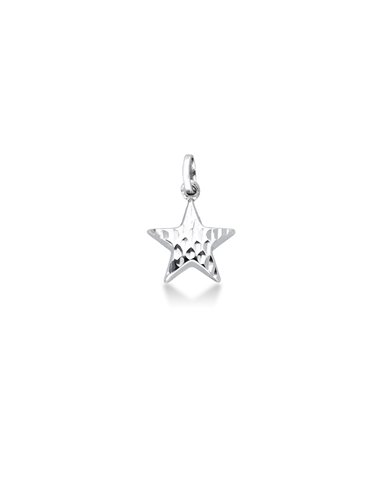 Pendant 18k White Gold with Star