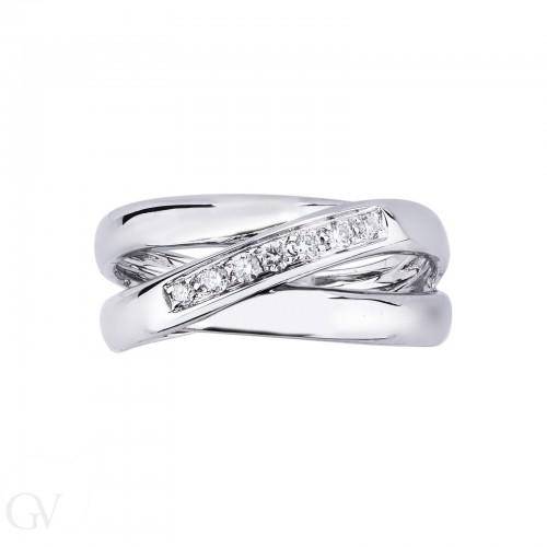Ring 18k White Gold with Diamond