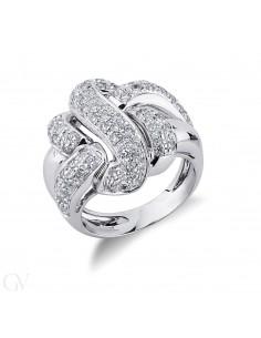 Anello  in oro bianco 18k e diamanti
