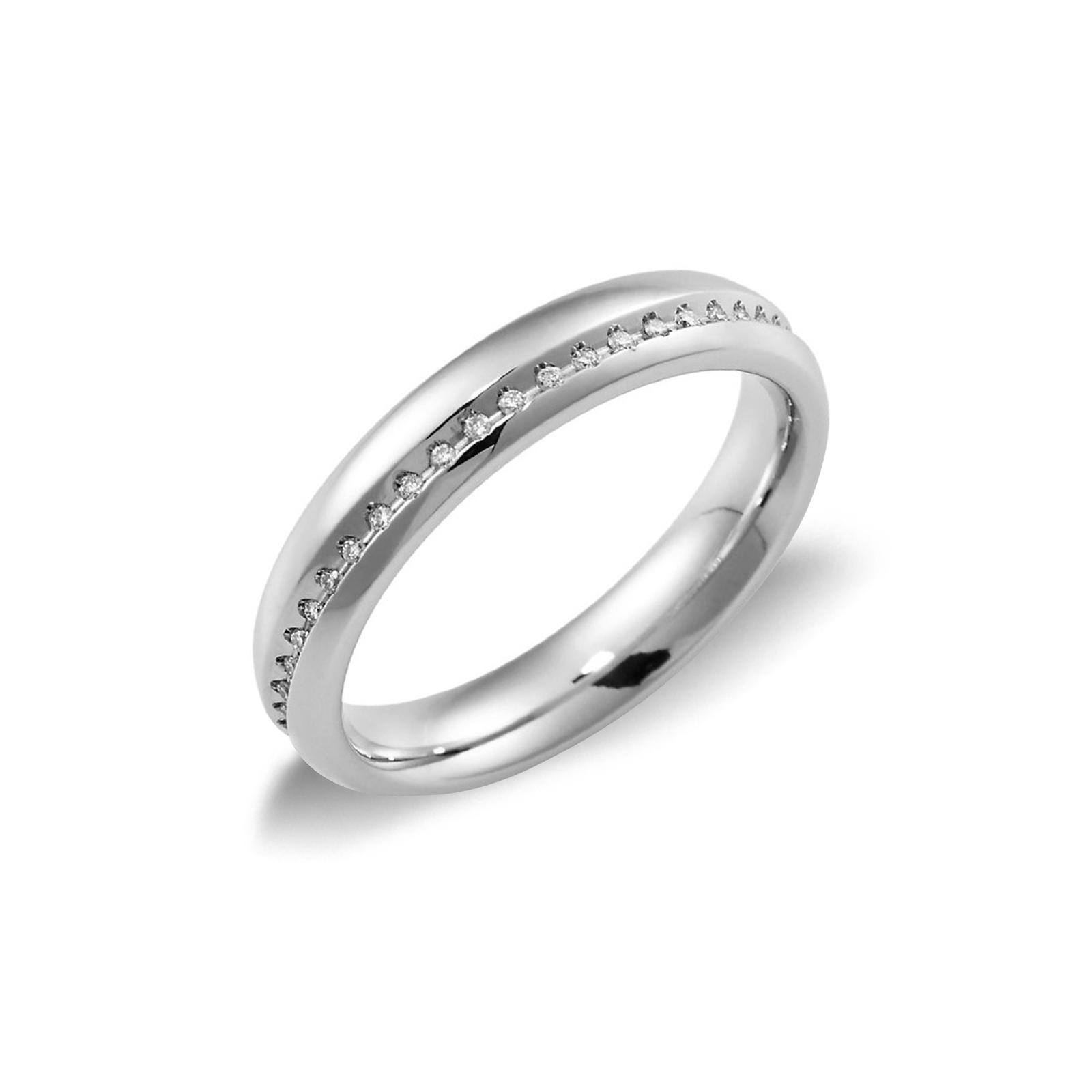 Fede Unoaerre Infinito  in oro bianco18k con diamanti.