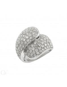 Pavé Ring 18k White Gold with Diamond