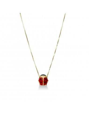 Necklace 18k Gold with ladybugs