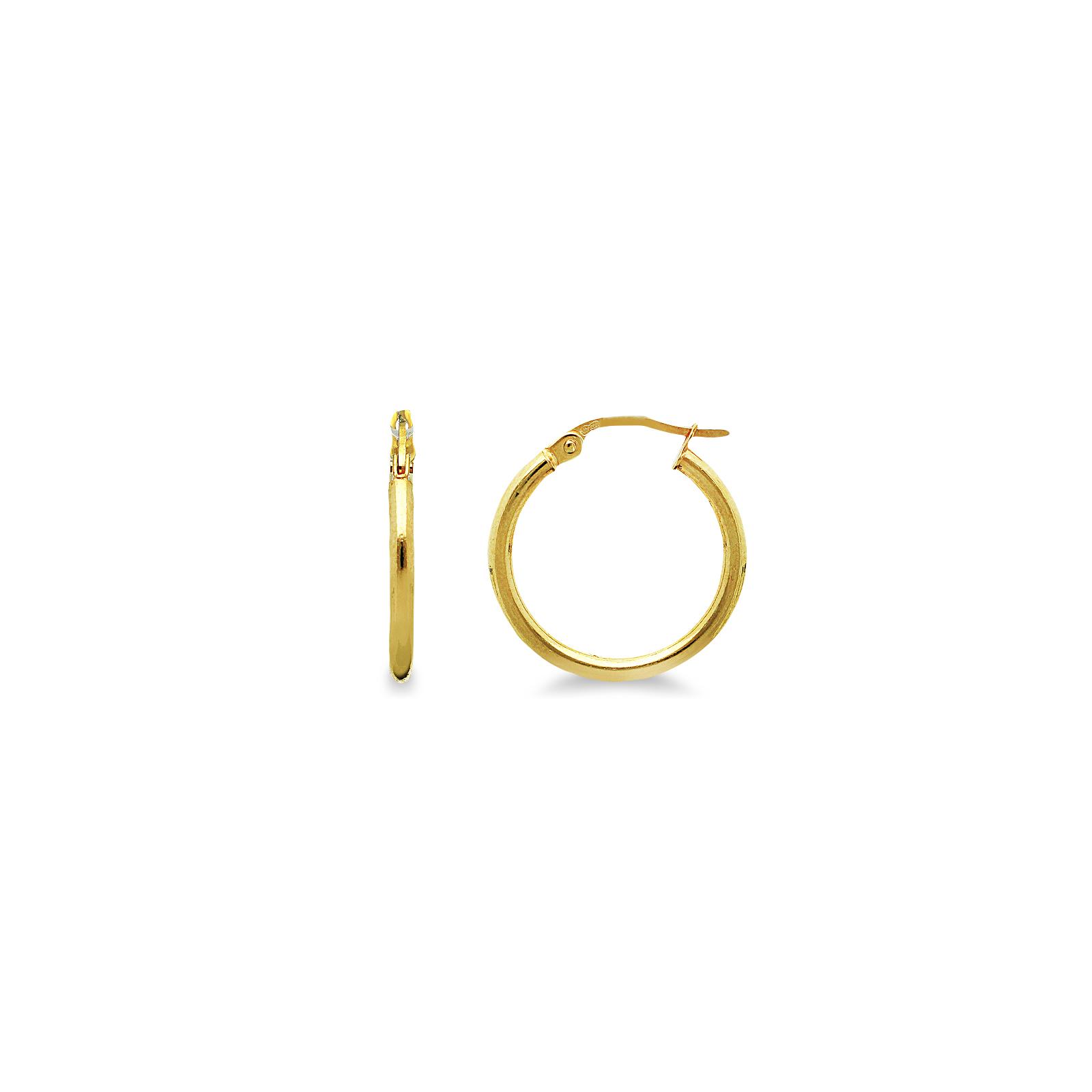 Orecchini in oro giallo 18k a cerchio.