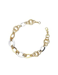 Bracelet 18k White Gold, Gold with Chain