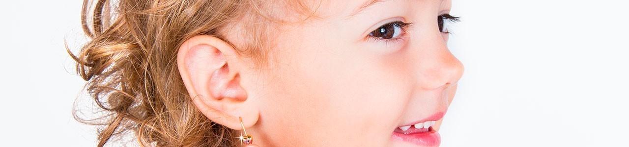 Orecchini con pendente bambina | Gioielli di Valenza
