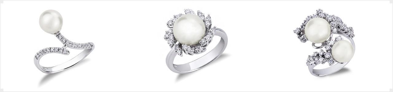 Woman pearl ring | Gioielli di Valenza