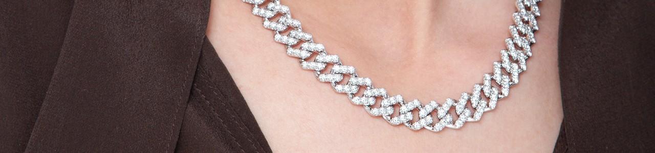 Collana groumette donna: diamanti, rubini, smeraldi e zaffiri | Gioielli di Valenza