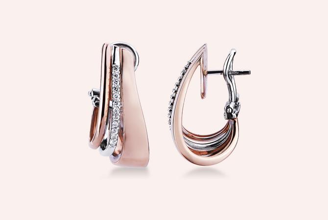 MNOR17362RB-orecchini-fantasia-in-oro-bianco-e-rosa-18k-con-Diamanti-gioielli-di-valenza-collezione-parure-berlino