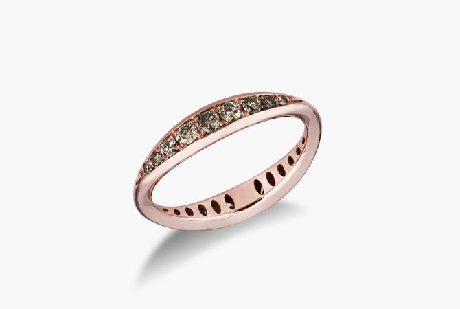 ERANSPIRM-Anello-in-oro-Rosa-18k-a-spicchi-con-Diamanti-Brown-gioielli-di-valenza