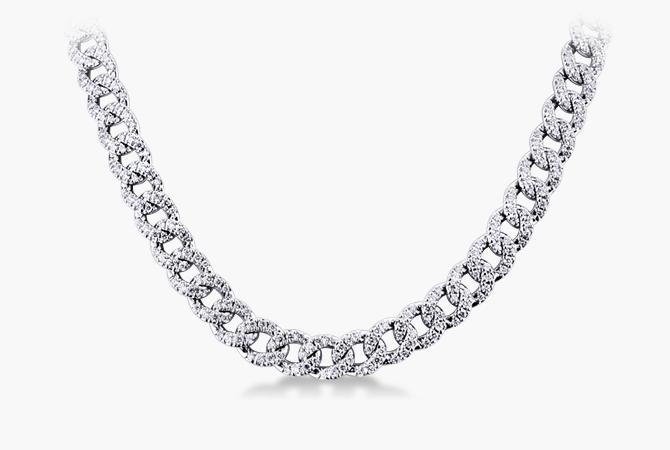 NGIR5419BB-Collana-maglia-groumette-in-oro-bianco-18k-con-Diamanti-a-collezione-parure-gioielli-di-valenza