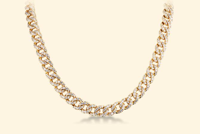 NGIR5419GB-Collana-maglia-groumette-in-oro-giallo-18k-con-Diamanti-parure-oro-gioielli-di-valenza