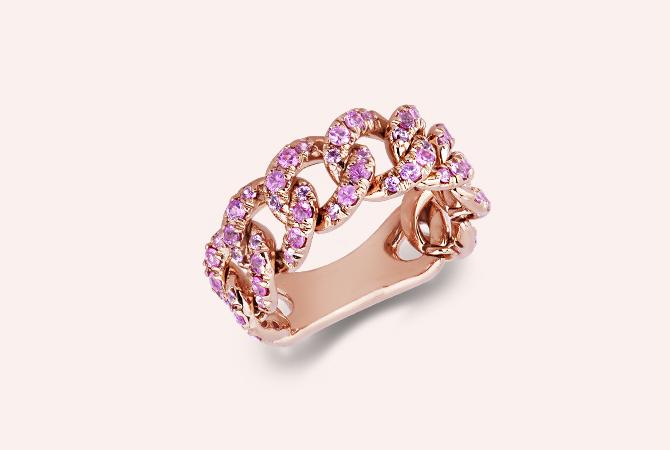 NAN5417RZ-ROS-Anello-groumette-in-Oro-Rosa-18k-con-Zaffiri-Rosa-collezione-parure-gioielli-di-valenza