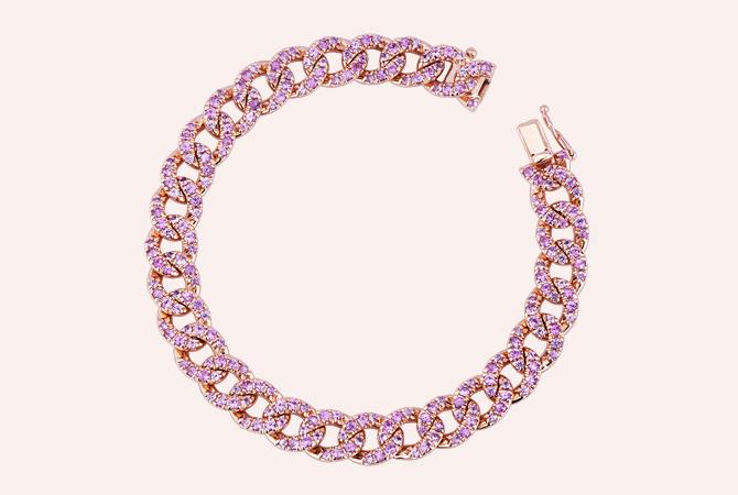 NBRA5418RZ-ROS-Bracciale-maglia-groumette-in-oro-Rosa-18k-con-Zaffiri-Rosa-collezioni-parure-gioielli-di-valenza