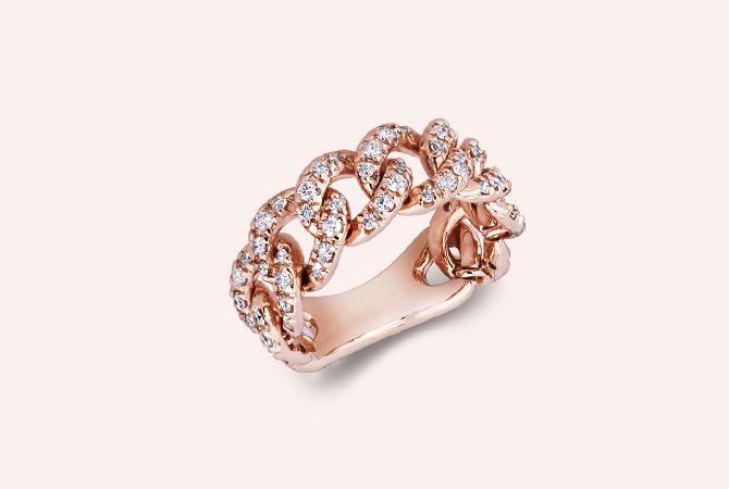 NAN5417RB-Anello-groumette-in-Oro-Rosa-18k-con-Diamanti-collezioni-parure-gioielli-di-valenza