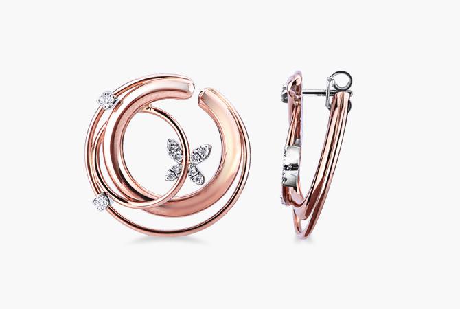 MNOR17380RB-Orecchini-intreccio-in-oro-bianco-e-rosa-18k-con-Diamanti-collezione-parure-gioielli-di-valenza